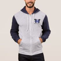 Stomach Cancer Awareness Butterfly of Hope Hoodie