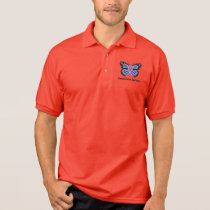 Stomach Cancer Awareness Butterfly of Hope Polo Shirt