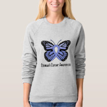 Stomach Cancer Awareness Butterfly of Hope Sweatshirt