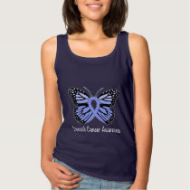 Stomach Cancer Awareness Butterfly of Hope Tank Top