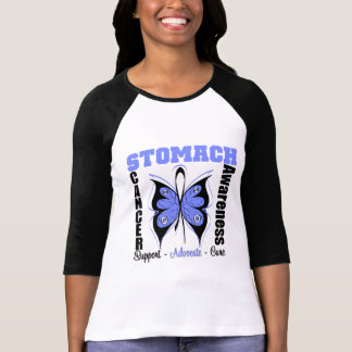 Stomach Cancer Awareness Butterfly T-Shirt