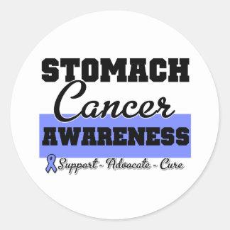 Stomach Cancer Awareness Classic Round Sticker