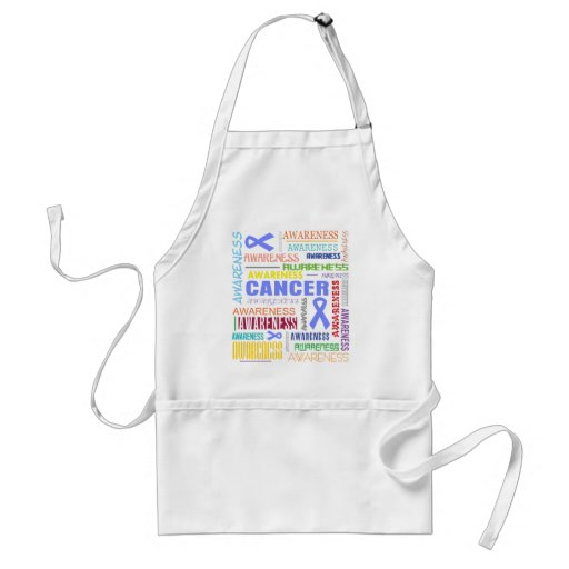 Stomach Cancer Awareness Collage Apron