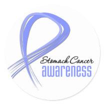 Stomach Cancer Awareness Grunge Classic Round Sticker
