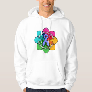 Stomach Cancer Awareness Matters Petals Hooded Pullover