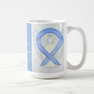 Stomach Cancer Awareness Ribbon Angel Custom Mug