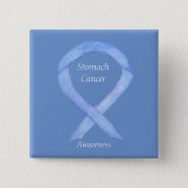 Stomach Cancer Awareness Ribbon Custom Pin