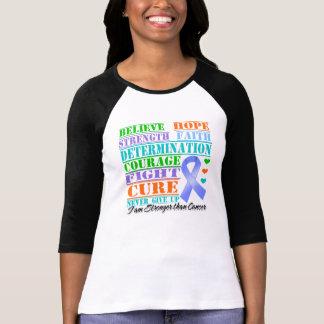 Stomach Cancer Believe Strength Determination Tee Shirt