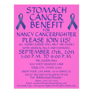 Stomach Cancer Benefit Flyer