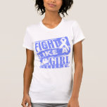 Stomach Cancer BurnOut Fight Like a Girl T-shirt