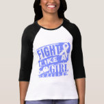 Stomach Cancer BurnOut Fight Like a Girl Tees