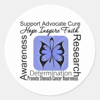 Stomach Cancer Butterfly Inspirations Sticker