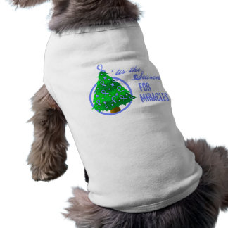 Stomach Cancer Christmas Miracles Doggie T Shirt