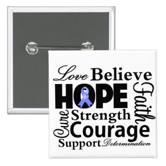 Stomach Cancer Collage of Hope Pinback Button