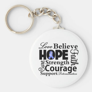 Stomach Cancer Collage of Hope Keychain