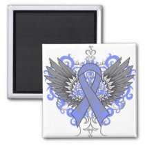 Stomach Cancer Cool Wings Magnet