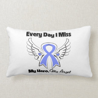 Stomach Cancer Every Day I Miss My Hero Throw Pillows