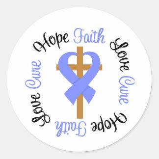Stomach Cancer Faith Hope Love Cross Sticker