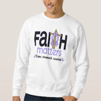 Stomach Cancer Faith Matters Cross 1 Sweatshirt