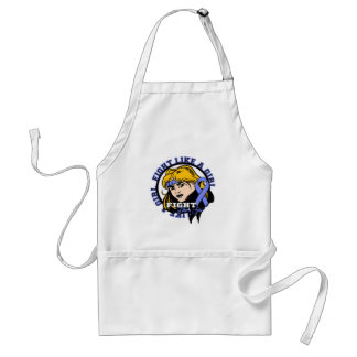 Stomach Cancer Fight Like A Girl Attitude Adult Apron