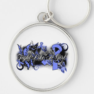 Stomach Cancer Fight Like A Girl Grunge Butterfly Keychains