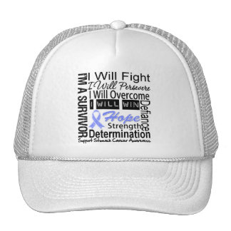 Stomach Cancer Fight Persevere Overcome Win Mesh Hats