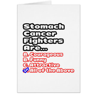 Stomach Cancer Fighter Quiz Card