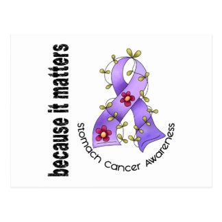 Stomach Cancer Flower Ribbon 3 Postcard