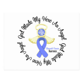 Stomach Cancer God Made My Hero An Angel Postcard