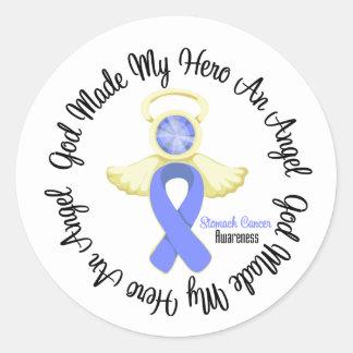 Stomach Cancer God Made My Hero An Angel Round Sticker
