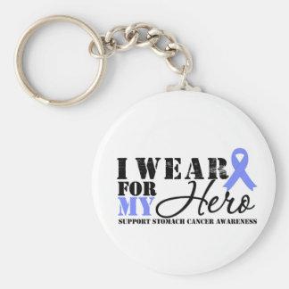 Stomach Cancer Hero Keychains