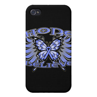 Stomach Cancer Hope Believe Butterfly Covers For iPhone 4