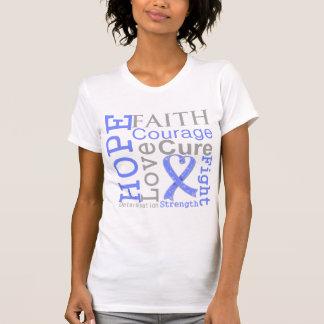 Stomach Cancer Hope Faith Motto Tshirt