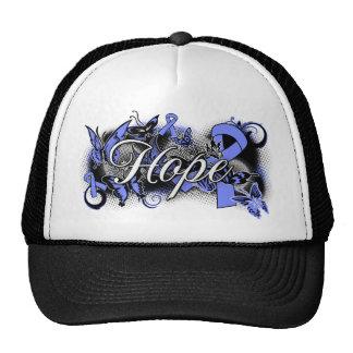 Stomach Cancer Hope Garden Ribbon Trucker Hat