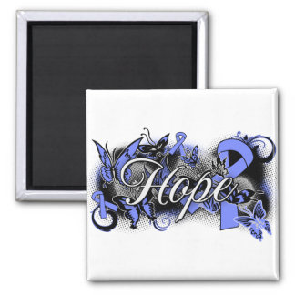 Stomach Cancer Hope Garden Ribbon Magnet