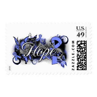 Stomach Cancer Hope Garden Ribbon Postage