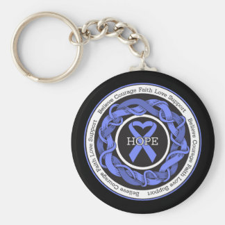 Stomach Cancer Hope Intertwined Ribbon Key Chain