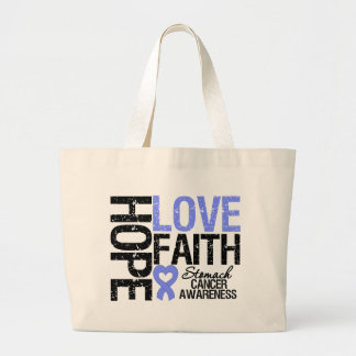 Stomach Cancer Hope Love Faith Canvas Bag