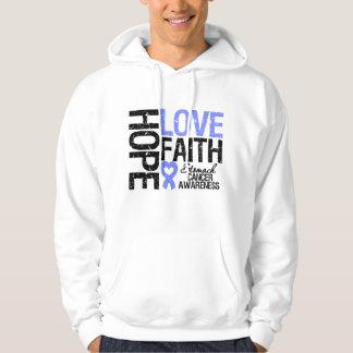 Stomach Cancer Hope Love Faith Hooded Sweatshirt