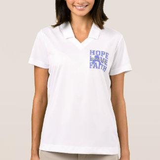 Stomach Cancer Hope Love Faith Survivor Polo Shirts