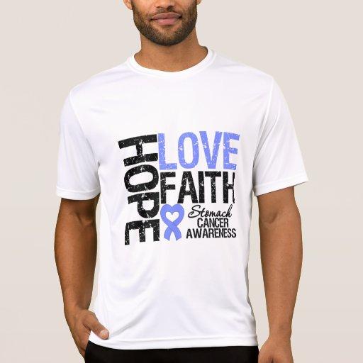 Stomach Cancer Hope Love Faith T Shirts