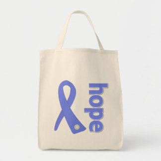 Stomach Cancer Hope Ribbon Tote Bags