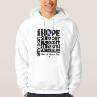 Stomach Cancer Hope Support Advocate Hooded Pullover