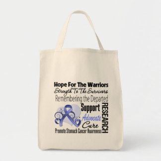 Stomach Cancer Hope Tribute Collage Grocery Tote Bag