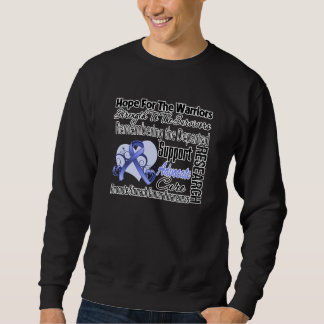 Stomach Cancer Hope Tribute Collage Sweatshirt