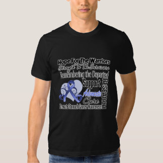 Stomach Cancer Hope Tribute Collage T Shirts