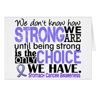 Stomach Cancer How Strong We Are Card