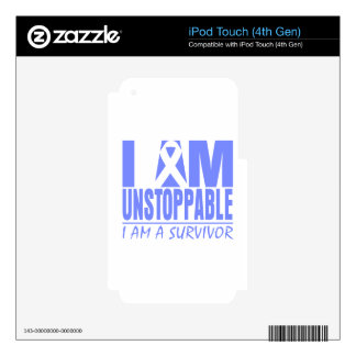 Stomach Cancer I Am Unstoppable iPod Touch 4G Decals