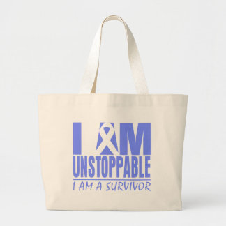Stomach Cancer I Am Unstoppable Tote Bags