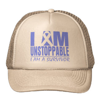 Stomach Cancer I Am Unstoppable Trucker Hat